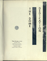 Page 7, 1936 Edition, University of Notre Dame - Dome Yearbook (Notre Dame, IN) online yearbook collection