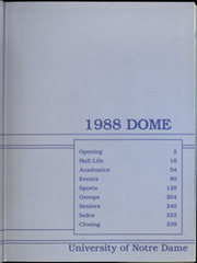 Page 3, 1988 Edition, University of Notre Dame - Dome Yearbook (Notre Dame, IN) online yearbook collection