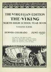 Page 7, 1930 Edition, North High School - Viking Yearbook (Denver, CO) online yearbook collection