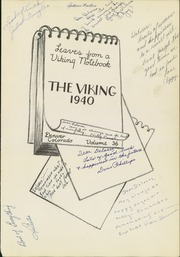 Page 5, 1940 Edition, North High School - Viking Yearbook (Denver, CO) online yearbook collection