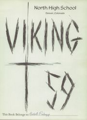 Page 5, 1959 Edition, North High School - Viking Yearbook (Denver, CO) online yearbook collection