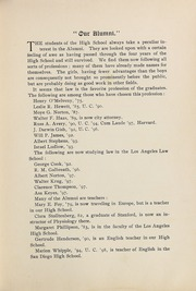 Page 85, 1899 Edition, Los Angeles High School - Blue and White Yearbook (Los Angeles, CA) online yearbook collection
