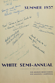 Page 7, 1937 Edition, Los Angeles High School - Blue and White Yearbook (Los Angeles, CA) online yearbook collection