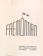 Page 5, 1951 Edition, John Fremont High School - Fremontian Yearbook (Los Angeles, CA) online yearbook collection