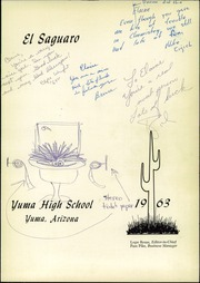 Page 5, 1963 Edition, Yuma Union High School - El Saguaro Yearbook (Yuma, AZ) online yearbook collection