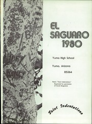 Page 5, 1980 Edition, Yuma Union High School - El Saguaro Yearbook (Yuma, AZ) online yearbook collection