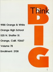Page 5, 1988 Edition, Orange Union High School - Orange and White Yearbook (Orange, CA) online yearbook collection