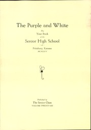 Page 5, 1925 Edition, Pittsburg High School - Purple and White Yearbook (Pittsburg, KS) online yearbook collection