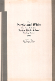 Page 5, 1936 Edition, Pittsburg High School - Purple and White Yearbook (Pittsburg, KS) online yearbook collection
