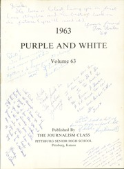Page 5, 1963 Edition, Pittsburg High School - Purple and White Yearbook (Pittsburg, KS) online yearbook collection