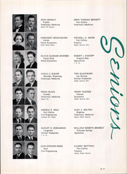 Page 17, 1941 Edition, Colorado State University Fort Collins - Silver Spruce Yearbook (Fort Collins, CO) online yearbook collection