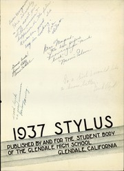 Page 7, 1937 Edition, Glendale High School - Stylus Yearbook (Glendale, CA) online yearbook collection