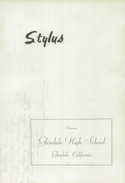 Page 7, 1941 Edition, Glendale High School - Stylus Yearbook (Glendale, CA) online yearbook collection