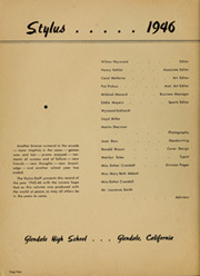 Page 8, 1946 Edition, Glendale High School - Stylus Yearbook (Glendale, CA) online yearbook collection