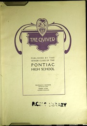 Page 5, 1921 Edition, Pontiac Senior High School - Quiver Yearbook (Pontiac, MI) online yearbook collection