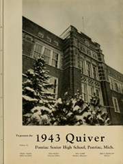 Page 7, 1943 Edition, Pontiac Senior High School - Quiver Yearbook (Pontiac, MI) online yearbook collection