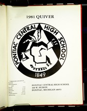 Page 5, 1981 Edition, Pontiac Senior High School - Quiver Yearbook (Pontiac, MI) online yearbook collection