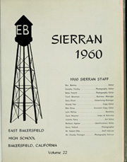 Page 5, 1960 Edition, East Bakersfield High School - Sierran Yearbook (Bakersfield, CA) online yearbook collection