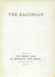 Page 7, 1937 Edition, Bridgeton High School - Baconian Yearbook (Bridgeton, NJ) online yearbook collection