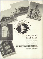 Page 5, 1941 Edition, Bridgeton High School - Baconian Yearbook (Bridgeton, NJ) online yearbook collection
