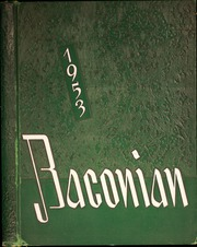 1953 Edition, Bridgeton High School - Baconian Yearbook (Bridgeton, NJ)