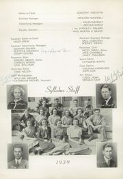 Page 12, 1939 Edition, East Orange High School - Syllabus Yearbook (East Orange, NJ) online yearbook collection
