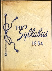 1954 Edition, East Orange High School - Syllabus Yearbook (East Orange, NJ)