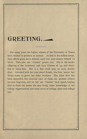 Page 11, 1894 Edition, University of Texas Austin - Cactus Yearbook (Austin, TX) online yearbook collection