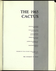Page 5, 1965 Edition, University of Texas Austin - Cactus Yearbook (Austin, TX) online yearbook collection