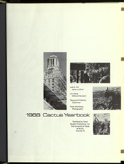Page 5, 1968 Edition, University of Texas Austin - Cactus Yearbook (Austin, TX) online yearbook collection