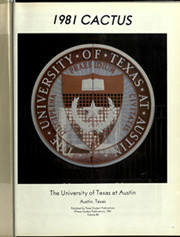 Page 5, 1981 Edition, University of Texas Austin - Cactus Yearbook (Austin, TX) online yearbook collection