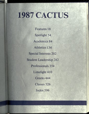 Page 3, 1987 Edition, University of Texas Austin - Cactus Yearbook (Austin, TX) online yearbook collection
