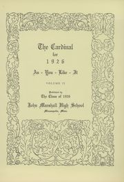 Page 5, 1926 Edition, Marshall High School - Cardinal Yearbook (Minneapolis, MN) online yearbook collection