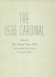 Page 3, 1936 Edition, Marshall High School - Cardinal Yearbook (Minneapolis, MN) online yearbook collection