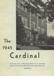 Page 5, 1945 Edition, Marshall High School - Cardinal Yearbook (Minneapolis, MN) online yearbook collection