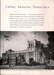 Page 13, 1951 Edition, Colton Union High School - Crimson and Gold Yearbook (Colton, CA) online yearbook collection