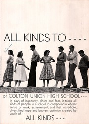Page 7, 1951 Edition, Colton Union High School - Crimson and Gold Yearbook (Colton, CA) online yearbook collection