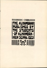 Page 7, 1923 Edition, Alhambra High School - Alhambran Yearbook (Alhambra, CA) online yearbook collection