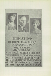 Page 11, 1924 Edition, Franklin High School - Almanac Yearbook (Los Angeles, CA) online yearbook collection