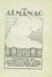 Page 5, 1924 Edition, Franklin High School - Almanac Yearbook (Los Angeles, CA) online yearbook collection