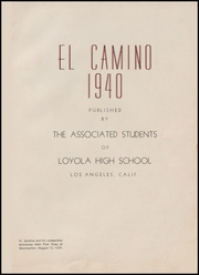Page 7, 1940 Edition, Loyola High School - El Camino Yearbook (Los Angeles, CA) online yearbook collection