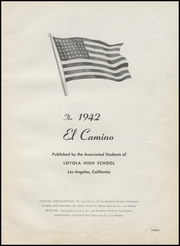 Page 7, 1942 Edition, Loyola High School - El Camino Yearbook (Los Angeles, CA) online yearbook collection