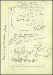 Page 7, 1928 Edition, Belmont High School - Campanile Yearbook (Los Angeles, CA) online yearbook collection