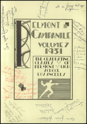 Page 7, 1931 Edition, Belmont High School - Campanile Yearbook (Los Angeles, CA) online yearbook collection
