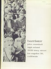 Page 5, 1959 Edition, John Marshall High School - Barrister Yearbook (Los Angeles, CA) online yearbook collection