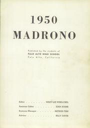Page 7, 1950 Edition, Palo Alto High School - Madrono Yearbook (Palo Alto, CA) online yearbook collection