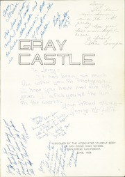 Page 5, 1958 Edition, San Diego High School - Gray Castle Yearbook (San Diego, CA) online yearbook collection