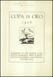 Page 5, 1926 Edition, South Pasadena High School - Copa de Oro Yearbook (South Pasadena, CA) online yearbook collection
