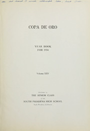 Page 7, 1934 Edition, South Pasadena High School - Copa de Oro Yearbook (South Pasadena, CA) online yearbook collection