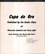 Page 5, 1948 Edition, South Pasadena High School - Copa de Oro Yearbook (South Pasadena, CA) online yearbook collection